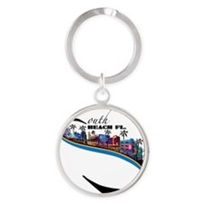 south beach Round Keychain