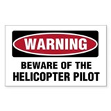 Warning Heli Pilot Rectangle Decal