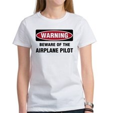 Warning Airplane Pilot Tee