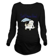 Saint Simons Island Long Sleeve Maternity T-Shirt