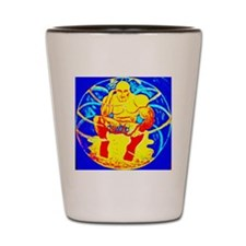 1-Budha in a buble-002 Shot Glass