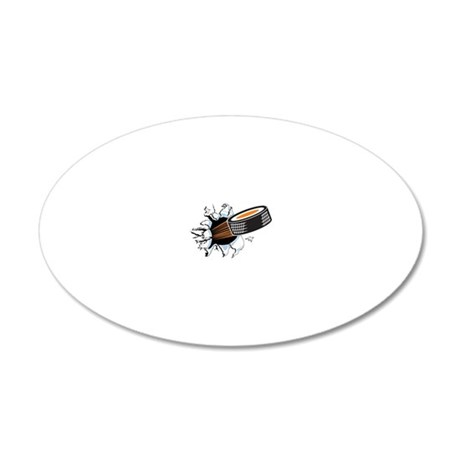 Hockey 20x12 Oval Wall Decal