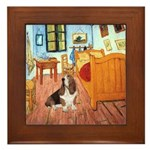 Van Gogh's Room & Basset Framed Tile