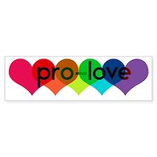 Pro-LOVE Bumper Sticker