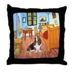 Van Gogh's Room & Basset Throw Pillow