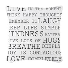 Positive Thoughts Woven Throw Pillow