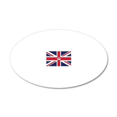 Royal British Flag 20x12 Oval Wall Decal