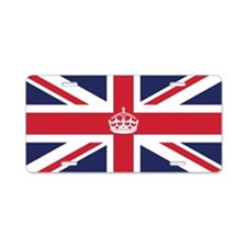 Royal British Flag Aluminum License Plate
