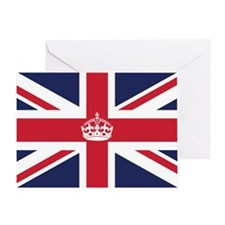 Royal British Flag Greeting Card