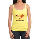Romania Soccer Player Ladies Top