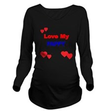 LOVE MY PAPPY Long Sleeve Maternity T-Shirt