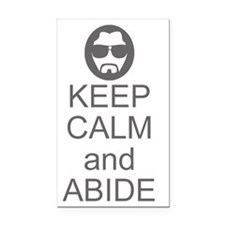 Keep Calm and Abide Rectangle Car Magnet