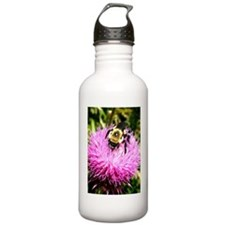 Bumble Bee on Pink Thi Water Bottle