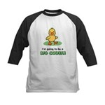 Big Cousin to be - Duck Kids Baseball Jersey