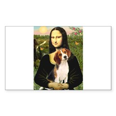 Mona's Beagle #1 Sticker (Rectangle)