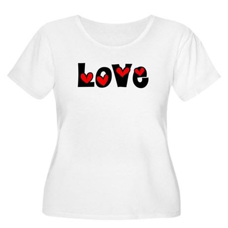 Love Women's Plus Size Scoop Neck T-Shirt