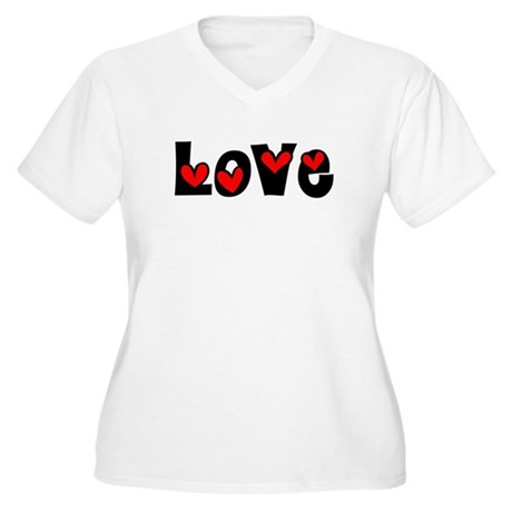 Love Women's Plus Size V-Neck T-Shirt