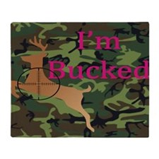 Im Bucked - Camo Throw Blanket