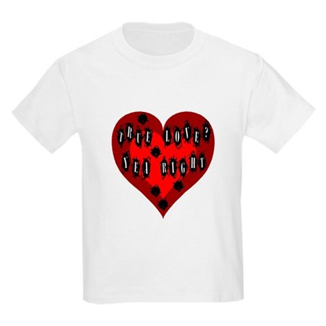 Holes in Heart Kids Light T-Shirt