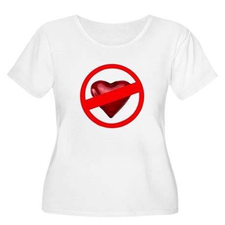 No Love Women's Plus Size Scoop Neck T-Shirt