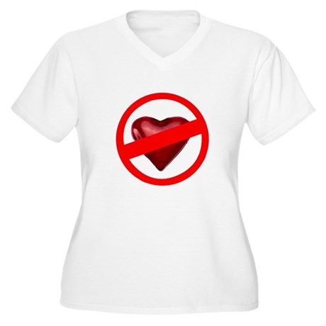 No Love Women's Plus Size V-Neck T-Shirt