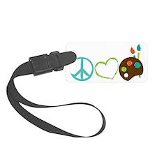 Peace Love Art Luggage Tag