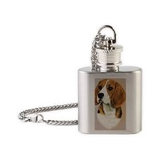 Beagle Jewel 2 Flask Necklace