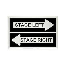 Stage Left Rectangle Magnet