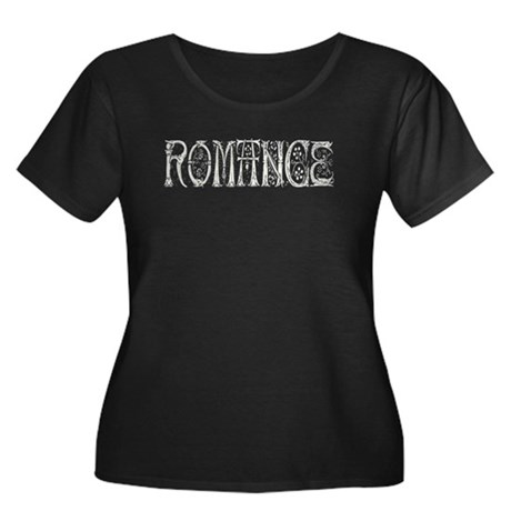 Romance Women's Plus Size Scoop Neck Dark T-Shirt