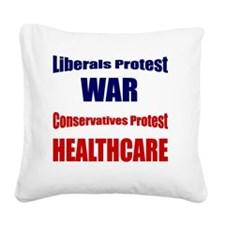 Protest Square Canvas Pillow
