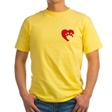 Two Tone Paw 'N Heart T