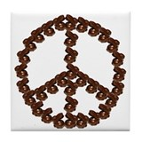 Peace by Chocolate Tile Coaster