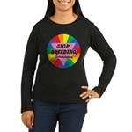 STOP BREEDING Intolerance Women's Long Sleeve Dark