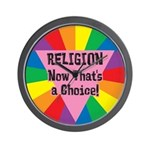 RELIGION CHOICE Wall Clock