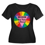 RELIGION CHOICE Women's Plus Size Scoop Neck Dark