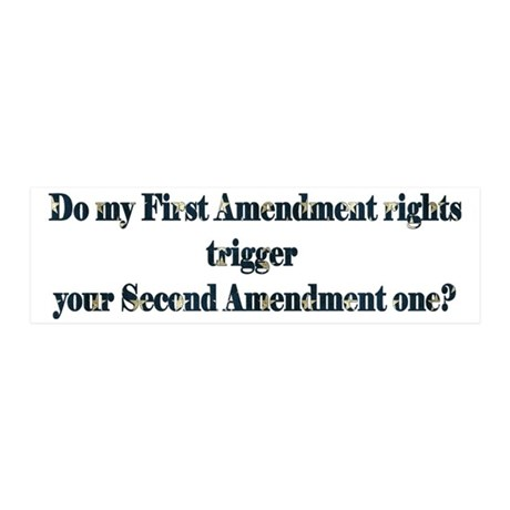 First & Second Amendments 20x6 Wall Decal