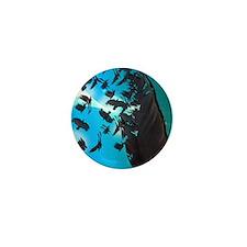 Crow Feather Blue Mini Button