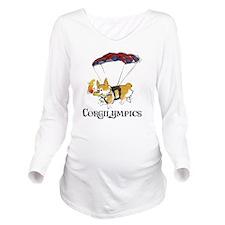 Corgilympics Long Sleeve Maternity T-Shirt
