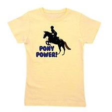 Cute Pony Power Equestrian Girl's Tee