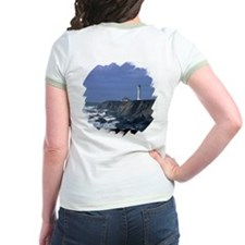 Lighthouse in Blue Women's Ringer