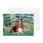Lily Bridge Basset Greeting Cards (Pk of 10)