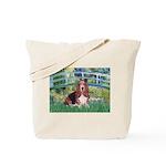 Lily Bridge Basset Tote Bag