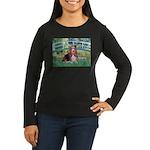 Lily Bridge Basset Women's Long Sleeve Dark T-Shir