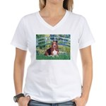 Lily Bridge Basset Women's V-Neck T-Shirt