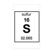 Sulfur Periodic Table StickersElement Sulfur Periodic Table