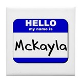 hello my name is mckayla  Tile Coaster