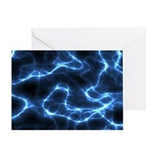 Electric Nebula 5 by 7 rug Greeting Card