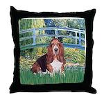 Lily Bridge Basset Throw Pillow