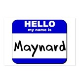 hello my name is maynard  Postcards (Package of 8)