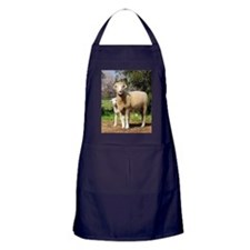 Horned Dorset and Lamb upright Apron (dark)
